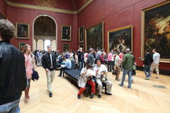 Visitors at the Louvre Museum, May 3, 2013 in Par Stock Photo