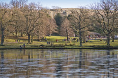 Visitors in of Lyme Park Stockport Peak District National Park Cheshire England  29/12/2016 editorial Stock Image