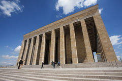 Visitors at Mausoleum of Mustafa Kemal Ataturk. ANKARA, TURKEY – APRIL 15: Unidentified visitors take photos at the mausoleum of Ataturk on April 15, 2012 in Royalty Free Stock Images