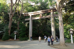 Visitors at Meiji Jingu Stock Photography