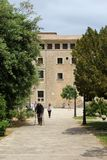 Visitors in the monastery El Santuari de Lluc, Mallorca, Spain Royalty Free Stock Photography