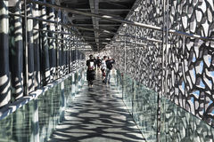 Visitors in the MuCEM in Marseille Royalty Free Stock Image