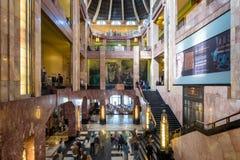 Visitors at the museum inside the Palacio de Bellas Artes in Mexico City royalty free stock photos