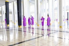 Visitors at the National Mosque of Malaysia Royalty Free Stock Photography
