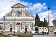 Visitors near Church Santa Maria Novella Royalty Free Stock Image