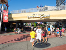 Visitors near the entrance  to Universal Orlando Resort Stock Photography