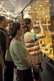 Visitors in ornamental stone museum Royalty Free Stock Photography