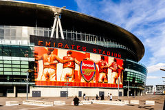 Visitors on the outside of The Emirates Stadium Royalty Free Stock Images