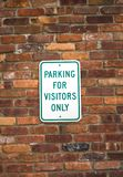 Visitors parking sign Stock Photos