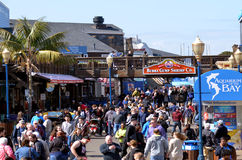 Visitors in Pier 39 Fishermans Wharf San Francisco - CA Royalty Free Stock Photo