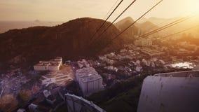 Visitors on platform at Sugar Loaf Mountain. Rio de Janeiro, Brazil Royalty Free Stock Photos