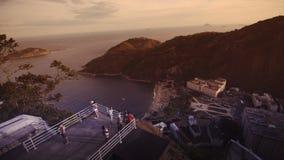 Visitors on platform at Sugar Loaf Mountain. Rio de Janeiro, Brazil Stock Photos