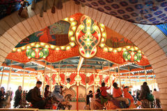 Visitors playing the  magicial carousel in Tokyo DisneySea Royalty Free Stock Images