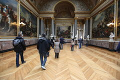 Visitors on queue for Versailles palace April, Royalty Free Stock Photo