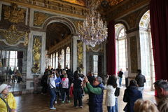 Visitors on queue for Versailles palace April, Stock Photo