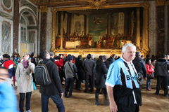 Visitors on queue for Versailles palace April, Royalty Free Stock Photography