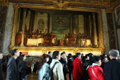 Visitors on queue for Versailles palace April, Stock Images