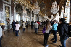 Visitors on queue for Versailles palace April, Stock Photos