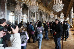 Visitors on queue for Versailles palace April, Stock Image