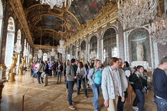 Visitors on queue for Versailles palace Stock Photos