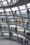 Visitors in the Reichstag palace Stock Image