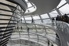 Visitors in the Reichstag palace Stock Photos