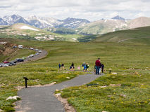 Visitors in Rocky Mountain National Park Stock Image