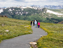 Visitors in Rocky Mountain National Park Royalty Free Stock Photo