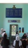 Visitors at Sadie's mausoleum, Shiraz. Visitors at the interior of Sadie's mausoleum in Shiraz. This monument has been dedicated to Sadi, author of famous Stock Photos