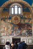 Visitors in Scrovegni Chapel in Padua Royalty Free Stock Photo