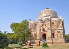 Visitors at sheesh gumbad Royalty Free Stock Photo