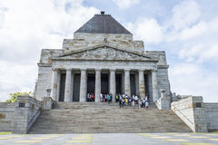 Visitors at the Shrine of Remembrance, Melbourne, Australia. Stock Photos