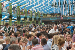 Visitors at the Spatenbrau Tent Royalty Free Stock Photography