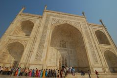 Visitors in Taj Mahal Stock Photo