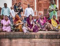 Visitors At The Taj Mahal Stock Photo