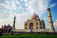 Visitors at the Taj Mahal complex on September 20, 2015, in Agra, Uttar Pradesh, Royalty Free Stock Image