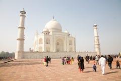 Visitors of Taj Mahal, India Royalty Free Stock Photos