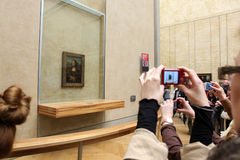 Visitors take photo of Leonardo DaVinci's Stock Images