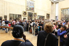 Visitors take photo of Leonardo DaVinci's Royalty Free Stock Photography