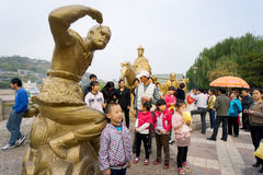 Visitors take pictures china Royalty Free Stock Photo