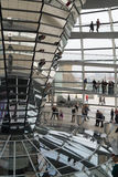 Visitors to the dome at the Bundestag Royalty Free Stock Photos