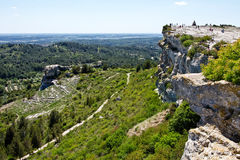 Visitors to Les Baux Royalty Free Stock Images