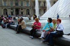 Visitors to the Louvre Museum, Paris Stock Photo