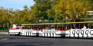 Visitors Trams Royalty Free Stock Images
