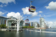 Visitors travel on the Emirates cable car stock photos