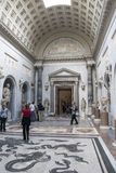 Visitors at the Vatican Museums in Rome Italy Royalty Free Stock Photo