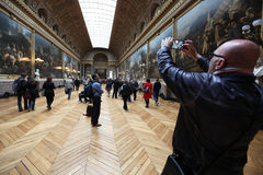 Visitors on in Versailles palace Stock Image