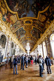 Visitors in Versailles palace Royalty Free Stock Photos