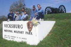 Visitors at Vicksburg National Military Park Royalty Free Stock Photo