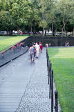 Visitors at the Vietnam Veterans Memorial in Washington D.C. Stock Photography